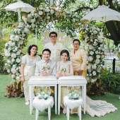 งานแต่งงานในสวน คุณแอ้น + คุณเมธา เรือนไทยรับจัดงานแต่งงาน
