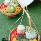คุณการะเกด & คุณอิศรา. บ้านมหาสวัสดิ์ เรือนไทยจัดงานแต่งงาน งานแต่งงานตกแต่งแบบไทย