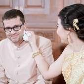งานแต่งงานบรรยากาศในสวน เรือนไทยริมคลองมหาสวัสดิ์ย่านราชพฤกษ์ ระหว่าง คุณดา สุจินดา & Mr. Daniel